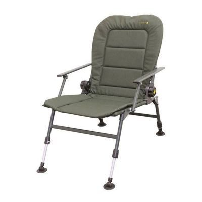 Рыболовное кресло карповое SPRO STRATEGY RECL DEWDROP WIDE SEAT+ARMREST (006522-00005)Кемпинговая мебель<br>SPRO STRATEGY RECL DEWDROP WIDE SEAT+ARMREST (006522-00005) кресло, имеющее стальной каркас, допускающий его эксплуатацию с нагрузкой до 100 кг. Набор регулировок пололжения кресла делает пребывание в нем максимально комфортным. Кокон кресла изготовлен из влагонепроницаемого поливинилхлорида плотностью 500D, что обеспечивает износоустойчивость изделия и удобство в уходе за ним.Предназначено для карповой ловли или просто отдыха на природе. В отличии от других стульев и кресел отличается хорошей устойчивостью на любой поверхности за счет широких и регулируемых ножек.<br>Характеристики<br><br><br><br><br> Max вес пользователя:<br><br><br> 100 кг.<br><br><br><br><br> Вес:<br><br><br> 6,3 кг<br><br><br><br><br> Все размеры:<br><br><br> 53(Ш)х51(Г)х35/87(В) см<br><br><br><br><br> Высота:<br><br><br> 35/87 см<br><br><br><br><br> Каркас:<br><br><br> сталь (дуги 16 мм и 20 мм)<br><br><br><br><br> Материал:<br><br><br> 500D ПВХ<br><br><br><br><br> Особенности:<br><br><br> плавная регулировка ножки<br><br><br><br><br> упаковка габариты см:<br><br><br> 62*71*22<br><br><br><br><br>