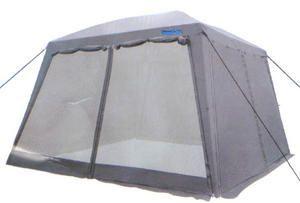 Тент-шатер Campack Tent G-3001W (со стенками)Тенты Шатры<br><br> В этом шатре площадью 13,3 кв. м. комфортно разместится  до 15 человек.<br><br><br> Туристический или дачный тент-шатер с москитными сетками и стенками со всех четырех сторон. Четыре одинаковых входа позволяют удобно расположить тент на любой местности, не задумываясь при сборке, где будет вход.<br><br><br> Каркас с фиберглассовыми дугами по грыше. Швы крыши проклеены.<br><br><br> Часто такие шатры используют как тент над бассейном, чтобы туда не попадал мусор, листва, а также чтобы защититься от солнца, а может даже и дождя. А шатры с москитными сетками еще и прекрасно защитят купальщиков от насекомых.<br> В этом шатре, диаметр вписанной окружности которого 3,65 м, вы сможете разместить круглый бассейн диаметром не более 3,4 м.<br><br>Характеристики:<br><br><br><br><br> Вес:<br><br><br> 14,5 кг.<br><br><br><br><br> Водонепроницаемость:<br><br><br> 3000 мм.<br><br><br><br><br> Все размеры:<br><br><br> 3,65(Д)х3,65(Ш)х2,49(В) м. Площадь - 13,3 кв. м.<br><br><br><br><br> Высота:<br><br><br> 1,98 м. В коньке 2,49 м.<br><br><br><br><br> Каркас:<br><br><br> Стойки - 19 мм / дуги на крыше - фиберглас 11 мм.<br><br><br><br><br> Материал:<br><br><br> 190 T Taffeta.<br><br><br><br><br> Материал внешний:<br><br><br> P.Taffeta 190T PU. Ткань изготовлена из полиэфирны<br><br><br><br><br> Обработка швов:<br><br><br> швы крыши проклеены.<br><br><br><br><br> Особенности:<br><br><br> с ветро-влагозащитными полотнами, 4 входа.<br><br><br><br><br> упаковка габариты см:<br><br><br> 93*20*20<br><br><br><br><br>