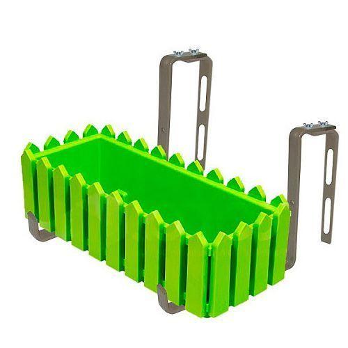 Крепление для балконных кашпо (2 шт.)Товары для дома и дачи<br>Предназначено для крепления балконных ящиков (кашпо) на перила балкона или другую опору.<br><br> <br> <br><br><br>Комплектация:<br><br><br>Крепление для кашпо - 2 шт. <br> Уголок – 2 шт. <br> Болт – 4 шт. <br> Шайба «бабочка» - 4 шт. <br> Русскоязычная упаковка с русской наклейкой со штрих-кодом<br><br><br> <br> <br><br><br>Технические характеристики:<br><br><br>Цвет: зеленый, стальной <br> Материал: металл с покрытием <br> Вес в упаковке: 480 гр. <br> Размер упаковки: 23*22*1,5 см <br> Крепление подойдет для балконных ящиков шириной не более 15 см. Вес 1,1 кг.<br><br>