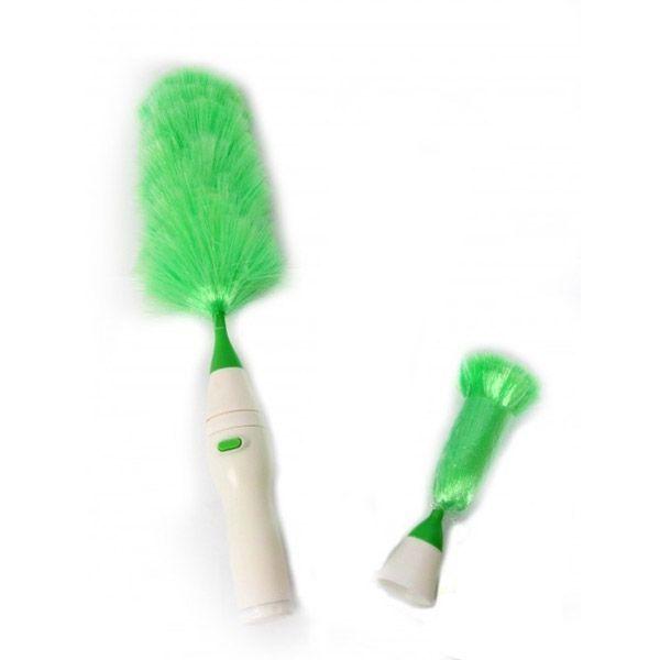 Щетка для удаления пыли New Duster (Go Duster, Гоу Дастер), для уборки дома в квартиреЩетки для удаления пыли<br> Щетка для удаления пыли New Duster (New Duster, Гоу Дастер)<br><br> Наверняка, хотя бы раз в жизни вы слышали выражение «шустрый, как электровеник». А хотите проверить его на практике? Интернет-магазин «Дирокс» представляет вашему вниманию недорогую антистатическую метелку для уборки пыли New Duster. С ней уборка дома закончится так быстро, что и глазом моргнуть не успеете. Более того, электрощетка New Duster вообще сделает все за вас. Все что нужно — это нажать на кнопочку и поднести устройство к месту скопления пыли. Быстро, практично, дешево, эффективно!<br><br><br> Щетка для удаления пыли New Duster дотянется в самый отдаленный уголок вашей квартиры. Книги, стеллажи с милыми сердцу мелочами, шторы, карнизы, полки с цветами — все засияет чистотой за считанные мгновения. Просто наденьте на устройство насадку необходимой ширины и нажмите на кнопочку. Электрическая щетка «Гоу Дастер» моментально удалит пыль и паутину. По завершении работы просто вымойте «лохматую» часть под струей воды и прибор снова готов к работе. Стоит купить щетку New Duster и пыльные тряпки навсегда исчезнут из вашего дома!<br><br><br> <br><br>Принцип работы<br><br> Щетка New Duster устроена очень просто и работает по принципу статического электричества. Оно создается в результате трения синтетических ворсинок о различные предметы.<br><br><br> После нажатия на кнопку насадка-метелочка начинает вращаться и ворсинки буквально «приклеивают» к себе пылинки, встречающиеся на пути. После прекращения работы статический заряд пропадает. Чтобы избавиться от прилипших пылинок, насадку достаточно интенсивно встряхнуть или вымыть под краном.<br><br>Как использовать электрощетку «Антипыль»<br><br><br>Возьмите метелочку нужного размера и наденьте ее на ручку-привод. Надавите на нее до упора, вы должны услышать негромкий щелчок. <br><br>При необходимости сбрызните ворсинки метелки небольшим количе