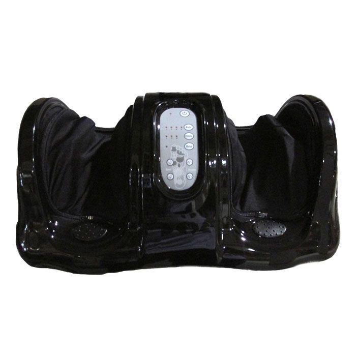 Массажер для ног FitStudio Foot Massage, черныйМассажеры для ног Блаженство<br>Ноют ноги после длительного хождения пешком или на каблуках?<br><br><br> Массажер для ног Foot Massage поможет Вам забыть об усталости и избавиться от неприятного дискомфорта в ногах!<br><br><br><br> Массажёр представляет собой платформу, в которой находятся валики, оказывающие одновременное воздействие на обе ступни и на нервные окончания, располагающиеся на них. При этом улучшается кровообращение, проходит усталость, улучшается общее самочувствие. Вы можете выбрать конкретную зону массажа: кончики пальцев, лодыжки или ступни, а также выбрать, с какой из четырёх программ начать процедуру массажа.<br><br>Преимущества массажера для ног:<br> <br><br><br><br><br><br> 3 режима работы: автоматический, ручной и персональный<br><br> <br><br><br> 3 зоны массажа ног<br><br> <br><br><br> 4 программы<br><br> <br><br><br> Автотаймер<br><br> <br><br><br> Пульт в комплекте <br><br> <br><br><br><br>Способ применения:<br><br> Подключите массажёр к сети. Выберите режим работы. Максимальное время использования - 30 мин. Не доставайте вилку из розетки во время работы прибора. Не накрывайте массажёр чем-либо. Не пользуйтесь прибором в ванной комнате, в плохо вентилируемом помещении. Не используйте прибор для массажа мокрых ног, а также во время сна. Не рекомендуется использовать людям, имеющим серьёзные заболевания, а также беременным женщинам, людям, страдающим аллергией.<br><br><br> Массажер для ног Foot Massage - отличное средство для расслабления и вклад в Ваше здоровье!<br><br><br><br>Комплектация<br><br><br><br><br>Массажер с 2-мя отсеками для ног и панелью управления - 1 шт.<br> <br><br>Пульт дистанционного управления - 1 шт.<br> <br><br>Русскоязычная упаковка с русской наклейкой со штрих-кодом<br> <br><br>Русскоязычная инструкция <br><br><br><br><br><br>Технические характеристики<br><br><br><br>Цвет: чёрный <br>Размеры: 63,5*38*30 см<br> Вес без упаковки: 6 кг<br>Электропитание: 220VAC<br> Потреблени