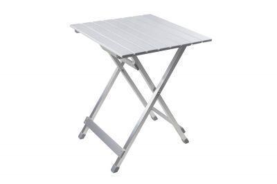 Стол складной GOGARDEN COMPACT 50 (50355)Кемпинговая мебель<br><br> Небольшой многофункциональный стол складной GOGARDEN COMPACT 50 (50355) из наборного алюминия. <br> Легкий, компактный, в сложенном виде очень удобен для переноски.<br> Складывается и раскладывается за 10 секунд!<br> Прочная, устойчивая конструкция. <br> Стол можно поставить рядом с шезлонгами для напитков, использовать для еды или как декоративную подставку под цветы и хранить на открытом воздухе в течение всего года.<br><br><br><br><br>Алюминиевая рама<br>Столешница из наборного алюминия<br>Складывается и раскладывается за 10 секунд<br>Очень легкий<br>Защитные пластиковые наконечники на ножках<br>Можно использовать для напитков, для еды, как декоративную подставку<br>Плоско складывается<br>Не занимает много места<br><br>Характеристики<br><br><br><br><br> Max вес пользователя:<br><br><br> макс. нагрузка 30 кг.<br><br><br><br><br> Вес:<br><br><br> 2,2 кг.<br><br><br><br><br> Все размеры:<br><br><br> 50х48х61 см<br><br><br><br><br> Высота:<br><br><br> 61 см<br><br><br><br><br> Каркас:<br><br><br> 22/22 и 55/11 мм алюминий<br><br><br><br><br> Материал:<br><br><br> столешница - наборный алюминий<br><br><br><br><br> Особенности:<br><br><br> установка меньше минуты<br><br><br><br><br> упаковка габариты см:<br><br><br> 70*50*5<br><br><br><br><br> <br>
