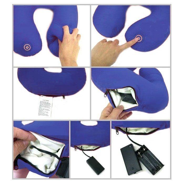 Подушка-подголовник массажная Neck Massage Cushion (синяя)