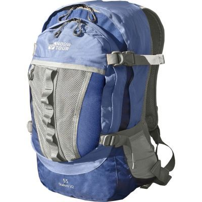 Рюкзак Nova Tour Слалом 55 V2Рюкзаки<br>Если все, что нужно ежедневно носить с собой, не помещается в обычный рюкзак, то Nova Tour Слалом 55 V2 специально для вас. Два вместительных отделения можно уменьшить боковыми стяжками или наоборот, если что-то не поместилось внутри, навесить снаружи на узлы крепления. Для удобства переноски тяжелого груза, на спинке предусмотрена удобная система подушек Air Mesh с полностью отстегивающимся поясным ремнем. <br>Характеристики:<br><br><br><br><br> Вес:<br><br><br> 0,89 кг.<br><br><br><br><br> Все размеры:<br><br><br> 38(Ш)х23(Г)х56(В) см.<br><br><br><br><br> Высота:<br><br><br> 56 см.<br><br><br><br><br> Гарантия:<br><br><br> 6 месяцев<br><br><br><br><br> Материал:<br><br><br> 600D Poly Oxford с двойным PU покрытием<br><br><br><br><br> Объем:<br><br><br> 55 л.<br><br><br><br><br> Особенности:<br><br><br> Грудная стяжка / Air Mesh / Органайзер<br><br><br><br><br> упаковка габариты см:<br><br><br> 57*39*3<br><br><br><br><br>