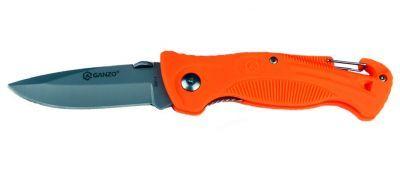Нож складной Ganzo G611-oНожи туристические<br><br> Лезвие ножа выполнено из нержавеющей стали 420С и имеет защитное антибликовое покрытие. Благодаря высокому содержанию углерода, сталь 420С после термической обработки приобретает высокую твердость (58-60 HRC) и хорошо держит заточку. Рукоять ножа G611 black имеет удобную эргономичную форму и выполнена из ударостойкого пластика черного цвета. Отличительной чертой модели G611 black является наличие встроенного в рукоять свистка, который позволяет подать предупреждающий сигнал в случае возникновения непредвиденной ситуации или опасности. Также на рукояти расположен карабин, позволяющий закрепить нож G611 black на поясе или туристическом снаряжении. Замок Liner Lock надежно фиксирует лезвие (как в открытом, так и в закрытом положении).<br><br><br> Производитель Ganzo<br> Вид карманный, туристический, охотничий, рыбацкий<br> Тип замка Liner lock<br> Бренд Ganzo<br> Тип складной<br> Длина клинка, см 7,5<br> Сталь клинка 420C<br> Тип клинка Drop-point<br> Длина в сложенном состоянии, см 11,5<br> Общая длина, см 19<br> Толщина клинка, см 0,3<br> Вес, г 85<br> Тип заточки прямой<br> Материал рукоятки сверхпрочный легкий пластик<br> Цвет рукоятки оранжевый<br><br>