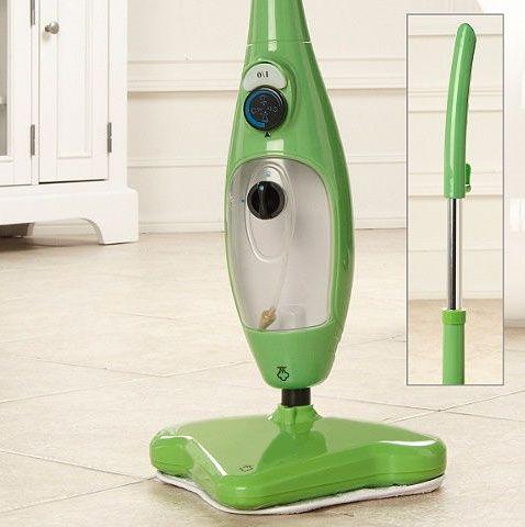 Паровая швабра Steam Mop X5 зеленая, (Стим Моп), пароочиститель для уборки дома в квартире