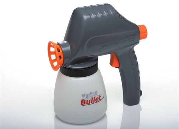 Краскораспылитель Paint Bullet (Пейнт Буллет), аппарат для покраски в домашних условияхКраскораспылители<br><br>  Смотрите также - Краскораспылитель Paint Zoom (Пейнт Зум)<br><br><br>  Инструкция к краскораспылителю Paint Bullet<br><br><br> Вы не понаслышке знаете, как дорого каждый год перекрашивать забор или деревянные оконные рамы? Мысль о космических затратах на предстоящий ремонт повергает вас в депрессию?<br><br><br> Забудьте обо всех этих трудностях с уникальным товаром.<br><br><br> С Paint Bullet покраска любой поверхности превратиться в легкое и быстрое занятие.<br><br>Особенности краскораспылителя<br> <br><br><br> Люди могут представить себе только три варианта выхода: пригласить маляров, приобрести профессиональное оборудование или использовать валик и кисточку. Но и первый, и второй, и третий меркнут по сравнению с четвертым!<br><br><br>Пейнт Буллет – это многофункциональный и практичный электрический пульверизатор, который, в отличие от ручного, не требует физических усилий в процессе работы. Внутри него встроен мощный насос, подающий краску в широкое сопло, что позволяет за один заход охватить достаточную часть окрашиваемой поверхности и прокрасить углы без подтеков, что подтверждено отзывами пользователей.<br><br><br> Устройство имеет несколько настраиваемых режимов работы, что позволяет эффективно расходовать краску в процессе работы по покраске дома, а небольшой вес инструмента позволяет выполнять это дело одной рукой.<br><br><br>Краскопульт может работать с широким спектром окрашивающих материалов, а также подходит как для внутренних, так и для внешних работ. Он с легкостью справится с покраской кирпичной стены или бетонного пола, деревянного или металлического забора, а также поможет обновить цвет обоев внутри помещения.<br><br><br> Распылитель изготовлен из высококачественных и легких материалов и имеет объемный резервуар для краски, так что вам не придется постоянно прерываться для того, чтобы долить расходный материал в процессе работы.<br><br>
