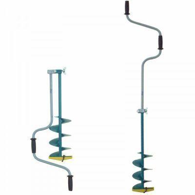 Ледобур Тонар ЛР-180Д (180 мм) двуручный, левый, прямые ножиСоставные ледорубы<br>Основное и единственное отличие двуручных ледобуров от классических – верхняя рукоятка ледобура смещена относительно оси ледобура на 130 мм, а нижняя на 150 мм. Такое расположение рукояток позволяет вращать ледобур одновременно двумя руками, тем самым, увеличивая скорость бурения лунок во льду. Кроме того, существенно уменьшаются габариты ледобура в транспортном положении. По всем остальным характеристикам двуручные ледобуры полностью соответствуют классическим.<br>Характеристики<br><br><br><br><br> Вес:<br><br><br> 3,2 кг.<br><br><br><br><br> Все размеры:<br><br><br> 155*30*18 см.<br><br><br><br><br> Гарантия:<br><br><br> 12 месяцев.<br><br><br><br><br> Материал:<br><br><br> Шнек: сталь; рукоятка: сталь, пластик.<br><br><br><br><br> Особенности:<br><br><br> Глубина бурения – 1000 мм; Диаметр бурения 180 мм.<br><br><br><br><br> упаковка габариты см:<br><br><br> 88*43*20<br><br><br><br><br>