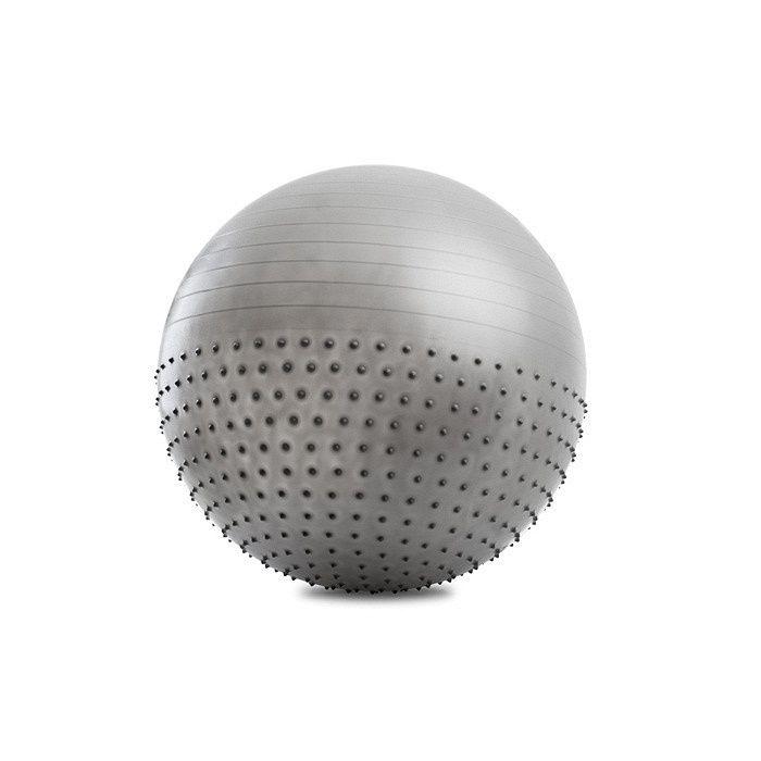 Мяч полумассажный гимнастический для фитнеса 75 см с насосом, для укрепления мышц и осанкиФитболы<br>Мяч полумассажный гимнастический для фитнеса 75 см с насосом<br> <br> <br>  <br> <br> <br>Благодаря тому, что с одной стороны мяч имеет массажную поверхность, а с другой - гладкую, он может служить одновременно и как средство для снятия усталости, нервного напряжения, улучшения кровообращения, разрушения жировых отложений, устранения целлюлита, и как снаряд для выполнения упражнений без массажного эффекта, которые могут выполняться как взрослыми, так и детьми. Упражнения с полумассажным мячом отлично тренируют сердце, дыхательную систему, вестибулярный аппарат, укрепляют мышцы корпуса, развивают координацию движений, способствуют формированию правильной осанки, уменьшает нагрузку на связки, суставы, межпозвоночные диски.<br> <br> <br>  <br> <br> <br>Полумассажный гимнастический мяч представляет собой шар-тренажер, который совмещает в себе одновременно и спортивный снаряд (гладкая сторона поверхности), и массажер (пупырчатая сторона поверхности). Тренировка с помощью такого тренажера благотворно влияет на организм.<br> <br><br> <br>Упражнения с мячом для фитнеса обеспечивает массаж и тренировку всех мышц туловища и конечностей, улучшает тонус и усиливает силу мышц. Во время занятий снимается усталость, улучшается кровообращение, разрушаются жировые отложения, корректируется фигура, и улучшается настроение!<br> <br><br> <br>Massage Ball выполнен из эластичного, высококачественного и прочного материала, абсолютно безопасного для здоровья. К мячу прилагается насос, с помощью которого, при необходимости, можно регулировать упругость (спуская и накачивая). Яркий дизайн придаст занятиям радостный оттенок! Мяч может использоваться людьми всех возрастов.<br> <br> <br>  <br> <br>  <br>Преимущества гимнастического мяча<br> <br>- Прочность<br> <br>- Массажные элементы и гладкая поверхность<br> <br>- Укомплектован мяч насосом<br> <br>- Использование на любых поверхностях<br> <br>