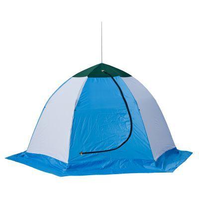 Палатка рыбака Стэк ELITE 2 (п/автомат) трехслойнаяРыболовные палатки<br><br> Палатка рыбака Стэк ELITE 2 (п/автомат) трехслойная предназначена для зимней рыбалки на льду, отличается эргономичным дизайном и разработана на быстроразборном каркасе зонтичного типа, выполненного из высококачественного материала (дюралевый пруток марки В-95Т1), что обеспечивает необходимую устойчивость и удобство эксплуатации. Вентиляционный клапан, расположенный напротив входа, обеспечивает дополнительный приток воздуха. Внешний тент - синтетическая непродуваемая  ткань (оксфорд 210PU), внутренний - утеплённая ткань (термостёжка).<br><br> Скорость раскрытия и установки палатки не превысит 30 секунд, демонтаж и укладка в чехол не занимает многим больше. <br> На палатке имеется широкая снего/ветрозащитная юбка, а внутри удобное вентиляционное окно на молнии.<br>Характеристики<br><br><br><br><br> Вес:<br><br><br> 4,7 кг.<br><br><br><br><br> Водонепроницаемость:<br><br><br> 2000 мм.<br><br><br><br><br> Все размеры:<br><br><br> 190*225 см.<br><br><br><br><br> Высота:<br><br><br> 150 см.<br><br><br><br><br> Гарантия:<br><br><br> 1 год.<br><br><br><br><br> Каркас:<br><br><br> Алюминиево-дюралевый каркас<br><br><br><br><br> Материал внутренний:<br><br><br> стеганое полотно из синтепона и подкладочной ткани таффета (термост?жка)<br><br><br><br><br> Материал внешний:<br><br><br> Оксфорд 210 PU<br><br><br><br><br> Особенности:<br><br><br> Трехслойная, шестигранный каркас. в отличие от обычных палаток СТЭК, полог больше на 20 см<br><br><br><br><br> Площадь:<br><br><br> 3,27 кв.м.<br><br><br><br><br> упаковка габариты см:<br><br><br> 105*40*20<br><br><br><br><br>