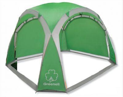Тент-шатер Greenell ПерголаТенты Шатры<br><br> В этом шатре площадью 9 кв. м. комфортно разместится 10 человек.<br><br><br> Тент-шатер Greenell Пергола  имеет прекрасный внешний вид и отлично смотрится на фоне природы. Он имеет особую эргономическую форму благодаря чему более ветроустойчив нежели стандартные прямоугольные шатры.<br> Этот шатер можно использовать для пикника, кемпинга или праздников на открытом воздухе. Очень часто его приобретают и для дачного использования, как отличную альтернативу стационарной дачной беседке. <br> Тент-шатер Greenell Пергола  защищает от палящего солнца и неприятного дождя даже в ветреную погоду. Две съемные стенки позволяют выбирать необходимое направление для защиты.<br><br><br> Тент быстро устанавливается на любой поверхности и также быстро демонтируется. Он выполнен из современного прочного материала и имеет прочный каркас.<br><br><br> Тент-шатер имеет  полиуретановое покрытие и укроет Вас от небольшого дождика, но не рекомендуется использовать его при сильном дожде.<br><br><br> Упаковывается в удобный, компактный чехол с ручками для переноски, поэтому проблем с транспортировкой у Вас не возникнет.<br><br>Характеристики:<br><br><br><br><br><br><br> Вес:<br><br><br> 4,85 кг<br><br><br><br><br> Водонепроницаемость:<br><br><br> 2000 мм.<br><br><br><br><br> Все размеры:<br><br><br> 3(Д)*3(Ш)*2(В) м. Площадь - 9 кв. м.<br><br><br><br><br> Высота:<br><br><br> 2 м.<br><br><br><br><br> Каркас:<br><br><br> фиберглас 8,5 мм.<br><br><br><br><br> Материал:<br><br><br> Polyester 190T PU 2000<br><br><br><br><br> Обработка швов:<br><br><br> швы проклеены.<br><br><br><br><br> Особенности:<br><br><br> Две съемные стенки позволяют выбирать необходимое направление для защиты.<br><br><br><br><br> упаковка габариты см:<br><br><br> 64*15*15<br><br><br><br><br>
