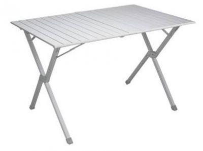 Стол складной TREK PLANET Dinner 110 Roll-up (70668)Кемпинговая мебель<br><br> Стол складной TREK PLANET Dinner 110 Roll-up со столешницей из наборного алюминия предназначен для использования на природе, дома, охоте, рыбалке. Можно использовать как дачный столик, устанавливая его внутри и снаружи помещений. Позволяет вмещать компанию до 6 человек. Благодаря продуманной конструкции выполненной из алюминия стол получился легким.<br><br><br>Особенности: <br><br><br><br><br><br>Компактный<br><br><br><br><br>Столешница скручивается в рулон<br><br><br><br><br>Быстрая, простая сборка<br><br><br><br><br>Комплектуется чехлом с лямкой для переноски и хранения<br><br><br><br><br><br>Характеристики<br><br><br><br><br> Max вес пользователя:<br><br><br> 30 кг<br><br><br><br><br> Вес:<br><br><br> 5,6 кг<br><br><br><br><br> Все размеры:<br><br><br> 110x70x70 см<br><br><br><br><br> Высота:<br><br><br> 70 см<br><br><br><br><br> Каркас:<br><br><br> 25 мм алюминий с матовым покрытием<br><br><br><br><br> Материал:<br><br><br> наборный алюминий с матовым покрытием<br><br><br><br><br> упаковка габариты см:<br><br><br> 104*25*12<br><br><br><br><br>
