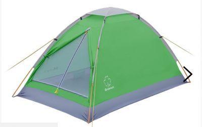 Палатка Greenell Моби 2 V2Туристические палатки<br>Greenell Моби 2 V2 это легкая и компактная однослойная палатка. Вентиляция на крыше под клапаном плюс большое вентиляционное окно напротив входа. В отличие от большинства аналогичных бюджетных палаток, у которых дно из армированного полиэтилена, палатка Моби имеетдно из полиэстера. Идеальна при частой смене лагеря (легко перемещать с места на место, а при необходимости можно закрепить с помощью штормовых оттяжек).<br>Характеристики:<br><br><br><br><br> Вес:<br><br><br> 1,4 кг.<br><br><br><br><br> Водонепроницаемость:<br><br><br> Тент 2000 мм, дно 3000 мм.<br><br><br><br><br> Все размеры:<br><br><br> 200(Д)x120(Ш)x100(В) см.<br><br><br><br><br> Высота:<br><br><br> 100 см.<br><br><br><br><br> Каркас:<br><br><br> фиберглас 7,9 мм.<br><br><br><br><br> Материал пола:<br><br><br> Polyester 190T PU 3000<br><br><br><br><br> Материал внешний:<br><br><br> Polyester 190T PU 2000<br><br><br><br><br> Обработка швов:<br><br><br> проклеенные швы.<br><br><br><br><br> Особенности:<br><br><br> Противомоскитная сетка, состоящая из множества маленьких ячеек, не позволяющих насекомым проникать внутрь палатки.<br><br><br><br><br> упаковка габариты см:<br><br><br> 53*9.5*9.5<br><br><br><br><br>