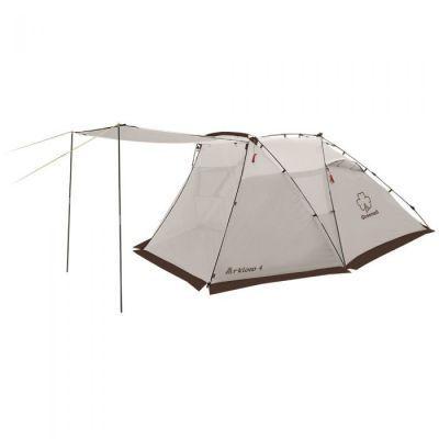 Палатка автомат Greenell Арклоу 4Туристические палатки<br>Greenell Арклоу 4 это просторная палатка с полуавтоматическим каркасом. Установка за 1 минуту. Двухслойная палатка с дополнительной дугой для большого тамбура. Внутренная палатка и тент устанавливаются одновременно. Легко ставиться одним человеком. Минимум времени для установки и сборки. Q-образный вход продублирован сеткой. Улучшенная сквозная вентиляция. Проклееные швы. Облегченная регулировка оттяжек со световозвращающей нитью. Дополнительные стальные стойки для полога. Система Антимоскит надежно защищает от комаров и мошек<br>Характеристики:<br><br><br><br><br> Вес:<br><br><br> 5,7 кг.<br><br><br><br><br> Водонепроницаемость:<br><br><br> Тент 4000 мм, дно 10000 мм.<br><br><br><br><br> Все размеры:<br><br><br> внешняя палатка 340(Д)x250(Ш)x140(В) см, внутренняя палатка 205(Д)x240(Ш)x120(В) см<br><br><br><br><br> Высота:<br><br><br> внешняя палатка 140 см, внутренняя палатка 120 см<br><br><br><br><br> Каркас:<br><br><br> фиберглас 8,2/9,5 мм, стойки под козырек сталь 16 мм<br><br><br><br><br> Материал внутренний:<br><br><br> Polyester 190T (дышащий)<br><br><br><br><br> Материал пола:<br><br><br> армированный полиэтилен (tarpauling) 120г/кв.м<br><br><br><br><br> Материал внешний:<br><br><br> Polyester 190T PU 4000<br><br><br><br><br> Обработка швов:<br><br><br> проклеенные швы<br><br><br><br><br> Особенности:<br><br><br> автоматический каркас, москитная сетка на входе<br><br><br><br><br> упаковка габариты см:<br><br><br> 101*22*22<br><br><br><br><br>