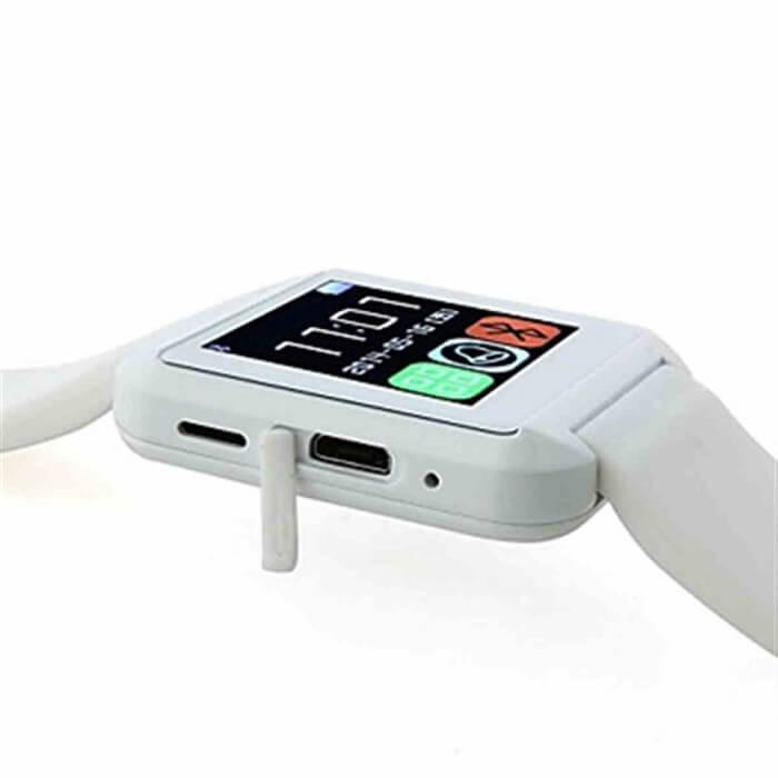 Умные часы Smart Watch U80 (белые)Аксессуары для смартфонов<br>Давно мечтаете обзавестись стильными и многофункциональными умными часами?<br><br><br><br>Тогда умные часы Smart Watch U80 - часы, созданные специально для Вас!<br><br><br><br>    Смарт-часы очень легки и удобны, размер можно регулировать. Устройство имеет множество полезных функций:барометр, шагомер, будильник, удалённое управление камерой и др. Часы синхронизируются со смартфоном посредством Bluetooth.Можно синхронизировать список контактов и журнал вызовов, принимать sms-сообщения, управлять музыкальным плеером. Для любителей селфи у часов также есть сюрприз - с помощью кнопки можно делать фото.<br>  <br>    <br>        <br>      <br>  <br>    Стильный и практичный гаджет для тех, кто ведёт активный образ жизни. Умные часы имеют множество полезных функций и будут полезны в любой жизненной ситуации.<br>  <br>    Держите руку на пульсе времени!<br>        <br>      <br>  <br>    Отличительные особенности:<br>  <br>    <br>  <br>    <br>  <br>    -13 основных функций<br>      <br>    - Синхронизируются со смартфоном<br>      <br>    - Регулируемый ремешок<br>      <br>    - 2 языка интерфейса<br>  <br>    <br>        <br>      <br>  <br>    <br>            Способ применения:<br>          <br>          <br>        <br>          Зарядите устройство. Наденьте часы, отрегулируйте ремешок. Включите часы и настройте их. Скачайте и установите приложение для синхронизации со смартфоном.<br>        <br>          <br>            <br>          <br>        <br>          Умные часы Smart Watch U80 - Ваш компактный многофункциональный помощник в любой ситуации!<br>        <br>          <br>              <br>            <br>        <br>          Комплектация:<br>        <br>          Часы - 1 шт.<br>              <br>            USB-кабель - 1 шт.<br>              <br>            Оригинальная англоязычная упаковка с русской наклейкой со штрих-кодом<br>              <br>            Русскоязычная инструкция<br>        <b