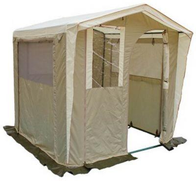 Палатка-кухня Митек Люкс 2х2Тенты Шатры<br>Для комфортного приготовления пищи на природе идеально подходят удобные палатки-кухни. Каждая кухня оснащена окнами или стенками с противомоскитными сетками, которые закрываются шторками, одна из стенок используется как вход, регулируемый по ширине или по высоте (зависит от типа кухни)*. Тенты для таких кухонь сшиты из непромокаемой прочной ткани. На задней стенке есть регулируемое отверстие для провода(электрического или газового). Кухню легко собирать и разбирать, все детали каркаса надежно крепятся между собой, делая конструкцию устойчивой. Палатка-кухня надежно защитит от неблагоприятных погодных условий.<br><br> *Палатка-кухня Митек Люкс 2х2<br><br><br> защитный козырек над входом<br><br><br> боковая ветрозащита входа<br><br><br> вход закатывающийся вбок<br><br><br> окно из пленки пвх на входе<br><br><br> 2 стенки с антимоскитными сетками закатывающиеся шторками на молнии<br><br><br> вход и 3 стенки поднимаются на верх<br><br><br> вентиляционный клапан с москитной сеткой на задней стенке<br><br><br> снизу на задней стенке регулируемое отверстие для провода электричества или газа<br><br>Характеристики:<br><br><br><br><br><br><br> упаковка габариты 2 место см:<br><br><br> 60*35*30<br><br><br><br><br> Вес:<br><br><br> 22 кг.<br><br><br><br><br> Водонепроницаемость:<br><br><br> 2000 мм.<br><br><br><br><br> Все размеры:<br><br><br> 2(Д)x2(Ш)x2,1(В) м. Площадь - 4 кв. м.<br><br><br><br><br> Высота:<br><br><br> 1,8 м/2,1 м.<br><br><br><br><br> Каркас:<br><br><br> Изготовлен из прочной стальной трубы ? 25мм,покрыт порошковой краской.<br><br><br><br><br> Материал:<br><br><br> Тент из прочной ткани с водоотталкивающим покрытием 240 Т 2000PU.<br><br><br><br><br> Обработка швов:<br><br><br> швы крыши проклеены.<br><br><br><br><br> упаковка габариты см:<br><br><br> 120*15*30<br><br><br><br><br>