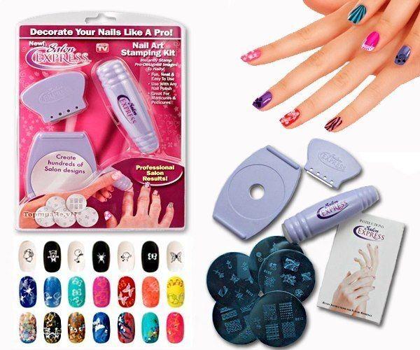 Набор для дизайна ногтей Salon Express (Салон Экспресс) для маникюра и педикюра дома