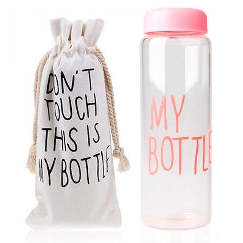 Бутылка This is my Bottle розоваяБутылки This is my Bottle<br>Бутылка This is my Bottle! розовая<br>  Руководство по эксплуатации, инструкция Бутылки This is my Bottle! (pdf 70 kb) <br>Бутылка для воды My Bottle – стильный must-have аксессуар этого сезона и настоящий хит продаж! Наполнить свою жизнь настроением и вкусом теперь так просто! Достаточно купить бутылку My Bottle, наполнить ее любимым напитком и можно устроить себе маленький релакс или утолить жажду прямо на ходу, в разгар рабочего дня или тренировки. Бутылка изготовлена из легкого, но прочного экологического пластика, выдерживает температуры от -40 до 100° и имеет широкое горлышко со съемной насадкой для комфортного питья. Май Ботл – оригинальный вариант для символического презента «на память» и неотъемлемый атрибут стильных селфи в Инстаграм. В цену бутылочки входит удобный льняной мешочек на затяжках с оригинальным предостережением на английском: «Не трогать! Это моя бутылка!» <br> <br>  <br> <br>Зачем покупать бутылочку My Bottle?<br> <br>Чтоб мучить свой организм недостатком воды и даже не замечать этого. Бутылочка My Bottle поможет решить эту проблему легко и непринужденно! Теперь ? дневной нормы жидкости в организме всегда под рукой! <br> <br>Компактный аксессуар для питья и перекуса My Bottle – для активных и целеустремленных. В эту бутылочку можно приготовить вкусный и полезный напиток и утолить жажду во время работы, на природе, в самолете или в спортзале. А можно наполнить Май Ботл ягодами, кусочками фруктов, орешками, хлопьями, зефиром или другим рассыпчатым лакомством и устроить небольшой перекус в обеденный перерыв или во время отдыха.<br> <br>Бутылка Май Батл очень легкая и компактная. Она не займет много места в рюкзаке или даже в женской сумочке. Полезный объем емкости – 500 мл. А какие необычные и стильные фото можно сделать! Такая оригинальная бутылка подчеркнет вашу индивидуальность и поможет создать яркое настроение на целый рабочий день!<br> <br>Преимущества бутылочки My Bottle<br>  