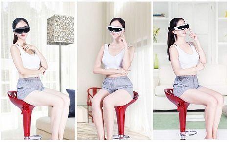 Массажер для глаз, массажер очки-тренажер Fitstudio (24 массажных элемента), магнитные