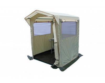 Палатка-кухня Митек Комфорт 1,5х1,5Тенты Шатры<br><br> Для комфортного приготовления пищи на природе идеально подходят удобные палатки-кухни. Каждая кухня оснащена окнами или стенками с противомоскитными сетками, которые закрываются шторками, одна из стенок используется как вход, регулируемый по ширине или по высоте (зависит от типа кухни)*. Тенты для таких кухонь сшиты из непромокаемой прочной ткани. На задней стенке есть регулируемое отверстие для провода (электрического или газового). Кухню легко собирать и разбирать, все детали каркаса надежно крепятся между собой, делая конструкцию устойчивой. Палатка-кухня надежно защитит от неблагоприятных погодных условий.<br><br><br> *Палатка-кухня Митек Комфорт 1,5х1,5<br><br><br>  Защитный козырек над входом<br><br><br>  Широкий вход закатывающийся вбок с возможностью регулировки по ширине<br><br><br>  Окно с сеткой на входе<br><br><br>  3 стенки с большими окнами защищенными антимоскитной сеткой, закрывающиеся шторками на молнии<br><br><br>  Вентиляционный клапан с москитной сеткой на задней стенке, снизу на задней стенке регулируемое отверстие для провода электричества или газа.<br><br><br>  Каркас изготовлен из прочной стальной трубы ? 25мм и усиленными узловыми соединениями (углами) , покрыт порошковой краской.<br><br><br>  Каркас палатки-кухни имеет нижнее основание и верхнюю обвязку, которые повышают прочность конструкции.<br><br>Характеристики:<br><br><br><br><br><br><br> упаковка габариты 2 место см:<br><br><br> 55*30*13<br><br><br><br><br> Вес:<br><br><br> 16,7 кг.<br><br><br><br><br> Водонепроницаемость:<br><br><br> 2000 мм.<br><br><br><br><br> Все размеры:<br><br><br> 1,5(Д)x1,5(Ш)x2,3(В) м. Площадь - 3 кв. м.<br><br><br><br><br> Высота:<br><br><br> 1,8 м/2,3 м.<br><br><br><br><br> Каркас:<br><br><br> Труба ? 25 мм.<br><br><br><br><br> Материал:<br><br><br> Тент из прочной ткани с водоотталкивающим покрытием 240D 2000PU.<br><br><br><br><br> Обработка швов:<br><br><br> швы крыши проклеены.<br><br><br><br><br> уп