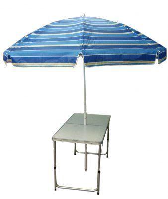 Стол под зонт WoodLand Family Table Luxe 120x60x70 T-201 (49681)Кемпинговая мебель<br><br> Складные столы давно стали обязательным атрибутом у всех любителей отдыха на свежем воздухе. Раскладывать продукты на земле на покрывале не всегда удобно, да и с погодой может не повезти. В таком случае хорошо будет иметь под рукой стол для дачи Woodland Family Table Luxe.<br><br><br> Обратите внимание на важную особенность – в  столе есть отверстие под зонт! Вы можете не беспокоиться, что вашему отдыху помешает палящее солнце или внезапно начавшийся дождик.<br><br><br> Стол отличается своей компактностью – в сложенном виде он представляет собой небольшой чемоданчик с ручкой, который с легкостью поместится в багажнике любого автомобиля и не займет там много места. А благодаря алюминиевому каркасу стол имеет небольшой вес и очень удобен в переноске при отсутствии машины. Возьмите его с собой на пикник, и у Вас будет отличное место для посиделок на свежем воздухе.<br><br><br> Стол Woodland Family Table Luxe будет незаменим и на дачном участке. Ведь так приятно насладиться свежеприготовленным шашлыком на природе. За этот стол для дачи можно спокойно рассадить 4-6 человек.<br><br>Характеристики<br><br><br><br><br> Max вес пользователя:<br><br><br> макс. нагрузка 30 кг.<br><br><br><br><br> Вес:<br><br><br> 4,4 кг.<br><br><br><br><br> Все размеры:<br><br><br> 120*60*70 см<br><br><br><br><br> Высота:<br><br><br> 70 см<br><br><br><br><br> Гарантия:<br><br><br> 6 месяцев.<br><br><br><br><br> Каркас:<br><br><br> алюминий.<br><br><br><br><br> Материал:<br><br><br> столешница МДВ, покрытие меламин.<br><br><br><br><br> Особенности:<br><br><br> отверстие под зонт<br><br><br><br><br> упаковка габариты см:<br><br><br> 63*8*63<br><br><br><br><br>
