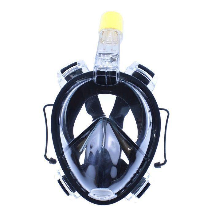 Маска для снорклинга TRIBORD EASYBREATH с заглушками для ушей (черная, размер L-XL)