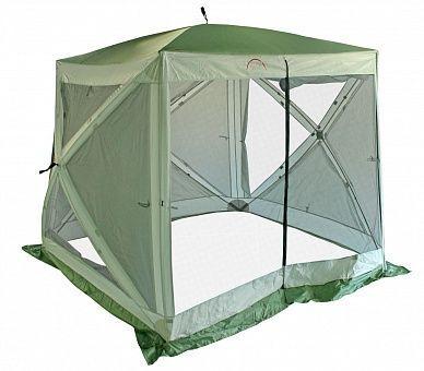 Тент-шатер Campack Tent A-2002WТенты Шатры<br>Тент-шатер Campack Tent A-2002W это современная модель быстросборного кемпингового тента с каркасом из фибергласса.<br> Тент отлично подойдет для организации комфортного отдыха на природе. Вместительные размеры позволят разместить столовую или кухню.<br> Тент оборудован антимоскитными сетками и влаго-ветрозащитными полотнами для защиты от непогоды.<br> Полотно тента изготовлено из ткани Oxford Poly PU c полиуретановой пропиткой 3000 мм водного столба для защиты даже от сильных ливней.<br> Швы тента дополнительно проклеены для защиты от проникновения влаги.<br> Высококачественный каркас из фибергласса обеспечивает надежность и стойкость тента к ветровым нагрузкам.<br> В комплекте колышки и оттяжки для закрепления тента.<br> Тент складывается в удобную сумку из усиленной ткани.<br>Характеристики:<br><br><br><br><br> Вес:<br><br><br> 10 кг.<br><br><br><br><br> Водонепроницаемость:<br><br><br> 3000 мм.<br><br><br><br><br> Все размеры:<br><br><br> 2,3(Д)x2,3(Ш)x2(В) м. Площадь - 5,3 кв. м.<br><br><br><br><br> Высота:<br><br><br> 2 м.<br><br><br><br><br> Каркас:<br><br><br> Fiberglass 11 мм.<br><br><br><br><br> Материал:<br><br><br> Oxford 210D 3000 мм в.ст.<br><br><br><br><br> Обработка швов:<br><br><br> швы крыши проклеены.<br><br><br><br><br> Особенности:<br><br><br> быстросборный каркас.<br><br><br><br><br> упаковка габариты см:<br><br><br> 172*22*20<br><br><br><br><br>