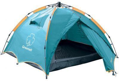 Палатка автомат Greenell Дингл Лайт 3 (95467-325-00)Туристические палатки<br><br> Облегченный вариант самой популярной полуавтоматической палатки Дингл. <br><br><br> Вместительность составляет три человека. Имеет удобный полуавтоматический каркас. <br><br><br> Максимальная вентиляция обеспечивается за счет внутренней палатки, выполненной полностью из москитной сетки, специального кроя тента и вентиляционных каналов в тенте палатки.<br><br><br> Все швы проклеены.<br><br><br> Имеется два входа и просторный тамбур для вещей. <br><br><br> Также внутри есть подвесная полка и карман для необходимых мелочей.<br><br>Характеристики:<br><br><br><br><br><br><br> Вес:<br><br><br> 4,5 кг.<br><br><br><br><br> Водонепроницаемость:<br><br><br> 3000 мм.<br><br><br><br><br> Все размеры:<br><br><br> Внешняя палатка 220(Д)x310(Ш)x120(В) см, внутренняя палатка 210(Д)x190(Ш)x120(В) см.<br><br><br><br><br> Высота:<br><br><br> 120 см.<br><br><br><br><br> Каркас:<br><br><br> фиберглас 8,5 мм.<br><br><br><br><br> Материал внутренний:<br><br><br> Сетка.<br><br><br><br><br> Материал пола:<br><br><br> армированный полиэтилен (tarpauling).<br><br><br><br><br> Материал внешний:<br><br><br> Poly Taffeta 190T PU 3000.<br><br><br><br><br> Обработка швов:<br><br><br> проклеенные швы.<br><br><br><br><br> упаковка габариты см:<br><br><br> 81*19*19<br><br><br><br><br>