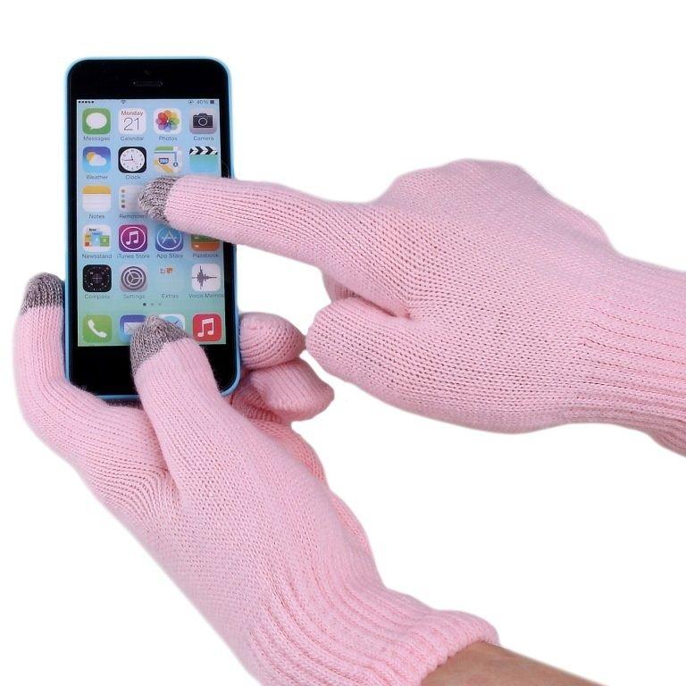 Перчатки для сенсорных экранов iGlove, розовые, для телефонов, мужские и женскиеПерчатки для сенсорных экранов<br>Перчатки для сенсорных экранов iGlove, розовые<br><br>Перчатки для сенсорных устройств в подарочной коробке<br> <br>Сенсорные гаджеты очень плотно вошли в нашу реальную жизнь: они постоянно с нами рядом. В зимний период актуальна проблема использования сенсорных устройств с экраном емкостного типа. Необходимое ручное управление сенсором затруднено присутствием, согревающих нас зимой, перчаток.<br> <br>Инновационные перчатки для сенсора iGloves с легкостью решают эту проблему, благодаря вплетению посеребренных нитей на кончиках среднего, указательного и большого пальцев, которые являются отличным проводником биотоков вашей руки. Запатентованная технология допускает легкое управление сенсорными устройствами.<br><br>Несколько выгодных преимуществ от использования сенсорных перчаток iGloves по сравнению с обычными перчатками:<br> <br>• Модный современный дизайн.<br> <br>• Комфорт в использовании. Ваши руки сохранят тепло даже в мороз, при этом Вы беспрерывно пользуетесь своим смартфоном и планшетом.<br> <br>• Универсальный размер перчаток. Благодаря акриловой нити и содержанию спандекса в составе, сенсорные перчатки iGloves подойдут женским или мужским рукам любого размера, что делает их отменным практичным и неординарным подарком в преддверии веселых новогодних праздников.<br>