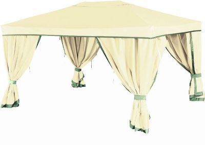 Садовый тент шатер Green Glade 1050Тенты Шатры<br><br> В этом шатре площадью 12 кв. м. комфортно разместится 13 человек.<br><br><br> Просторный тент Green Glade 1050 – это очень стильная модель приятного бежевого цвета, которая идеально впишется в дизайн практически любого дачного участка или другого пространства. Такой шатер отлично организует комфортное место для отдыха всей Ваши семьи или компании друзей.<br><br><br> Тент-шатер Green Glade 1050 пригодится как:<br><br><br> • Отличная замена стационарной беседке;<br> • Идеально решение для проведения торжеств на открытом воздухе;<br> • как игровая комната для детей на больших мероприятиях.<br> • как торговый павильон или летнее кафе<br><br><br> Внешний вид и вместительность тента Green Glade 1050 делают его прекрасным решением для проведения самых различных мероприятий: от семейного праздника до небольшой свадьбы.<br> Площадь шатра в 12 кв.м позволит свободно разместить в нём различную мебель для посадки гостей. Прочная ткань, из которой изготовлен тент, имеет водоотталкивающее покрытие. А, значит, Вы сможете планировать праздник, вне зависимости от желаний природы. И внезапно начавшийся дождь не отразится на настроении гостей.<br> А плотные стенки с 4-х сторон укроют Вас от любопытных взглядов, защитят от знойного солнца или легкого дождя, или ветра, лишь расстегните подхваты, которые удерживают стенки шатра.<br><br><br><br><br> Часто такие шатры используют как тент над бассейном, чтобы туда не попадал мусор, листва, а также чтобы защититься от солнца, а может даже и дождя. А шатры с москитными сетками еще и прекрасно защитят купальщиков от насекомых.<br> В этом шатре, диаметр вписанной окружности которого 3 м, вы сможете разместить круглый бассейн диаметром не более 2,8 м.<br><br>Характеристики:<br><br><br><br><br> Вес:<br><br><br> 16 кг.<br><br><br><br><br> Все размеры:<br><br><br> 3(Д)х4(Ш)х2,5(В) м. Площадь - 12 кв. м.<br><br><br><br><br> Высота:<br><br><br> 2,5 м.<br><br><br><br><br> Каркас:<br><br><br> Метал