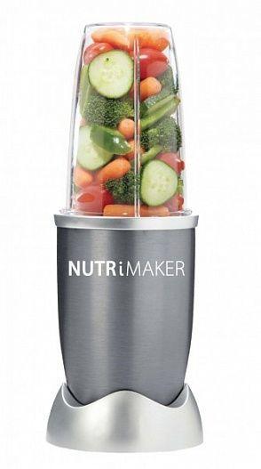 Блендер экстрактор питательных веществ NutriMaker 600 Вт, блендер для смузи и коктейлейБлендеры Нутрибуллет<br>Блендер экстрактор питательных веществ NutriMaker 600 Вт<br><br>Человек — это то, что он ест. Эту прописную истину знает каждый. Именно поэтому сбалансированное и здоровое питание набирает все большую популярность. Если вы тоже стараетесь вести правильный образ жизни вам просто не обойтись без блендера экстрактора питательных веществ NutriMaker. Этот замечательный прибор — просто прорыв в сфере идеального питания. Более дешевого и надежного способа получать максимум пользы из пищевых продуктов просто не найти.<br><br><br>Блендер Nutrimaker — ваше тайное оружие в борьбе за идеальную фигуру. Тысячи людей, уже испробовавших на себе эту уникальную технологию, оставляют о нем только восторженные отзывы. Благодаря оригинальной технологии, NutriMaker позволяет высвобождать из овощей и фруктов максимум полезных веществ. Кроме того, «НутриМэйкер» имеет настолько острые и прочные ножи, что без труда справится даже с орехами. Просто смешайте все в одном стакане, и за считанные секунды вы получите недорогой и очень полезный и вкусный смузи.<br><br><br><br><br>Почему это работает?<br><br>Блендер Nutrimaker — это действительно уникальный прибор, настоящая революция в области питания. Что же в нем такого удивительного?<br><br><br>Существует огромное количество различных микроэлементов, которые просто невозможно получить обычным путем. Вы можете часами пережевывать пищу, так и не добравшись до «центра полезности». Это так называемые нутриенты, которые содержатся в семенах, кожуре и плотных стеблях.<br><br><br>«НутриМэйкер» перемалывает фрукты, орехи и овощи буквально на клеточном уровне, высвобождая максимум питательных веществ. Именно поэтому «Нутрибласт» намного полезнее привычных смузи. Стоит купить экстрактор питательных веществ и сможете в полной мере насладиться недорогим и удивительно полезным коктейлем.<br><br><br> <br><br>Преимущества<br><br>Единственный способ из