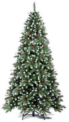 Ель Royal Christmas Seattle заснеженная шишки/ягоды 525150 (150 см)Елки искусственные<br><br> Как известно, ёлка - один из главных атрибутов Нового года. В преддверии зимних праздников появляется всё больше забот и хлопот. И искать каждый год живую ёлку за несколько дней до торжества совсем не удобно. Ель Royal Christmas поможет провести праздник в атмосфере настоящего волшебства. Очень красивые ёлки этого голландского производителя выглядят как живые. Они будут радовать как детей, так и взрослых. <br> Ели очень устойчивы. А простая и быстрая сборка новогоднего дерева не отнимет у Вас много времени.<br><br><br> Одно из самых эксклюзивных деревьев в коллекции Royal Christmas, очень густая и широкая к низу модель сильно напоминает реальную ель. Дерево имеет очень мощные ветки, которые не сломаются в процессе перевозки и хранения. Искусственная елка имеет прочный стальной каркас и сердцевину веток из нержавеющей стали, которая сможет выдержать даже самые тяжелые украшения. Рождественское дерево собирается очень просто, установите ветки в соответствующие пазы и ваше дерево готово! Ель всегда упаковывается в прочную коробку для хранения, так что вы сможете легко разобрать и сохранить елку до следующих праздников. Конечно же, эта модель изготовлена из негорючих материалов ПВХ для Вашей безопасности.<br><br><br>Особенности<br><br> - наивысшее качество;<br> - очень детальная<br> - прочная коробка для хранения;<br> - материал: PVC (мягкая хвоя);<br> - включает металлическую подставку;<br> - широкая к низу модель;<br> - очень густая елка;<br> - не воспламеняется;<br> - быстрая сборка;<br> - для использования как внутри, так и снаружи помещения.<br><br>Характеристики<br><br><br><br><br> Все размеры:<br><br><br> Диаметр: 97<br><br><br><br><br> Высота:<br><br><br> 150 см.<br><br><br><br><br> Материал:<br><br><br> PE/PVC (мягкая хвоя+флок)<br><br><br><br><br> Особенности:<br><br><br> Количество веток: 705<br><br><br><br><br> упаковка вес кг:<br><br><br> 7.6<br><br><br><br><br> уп