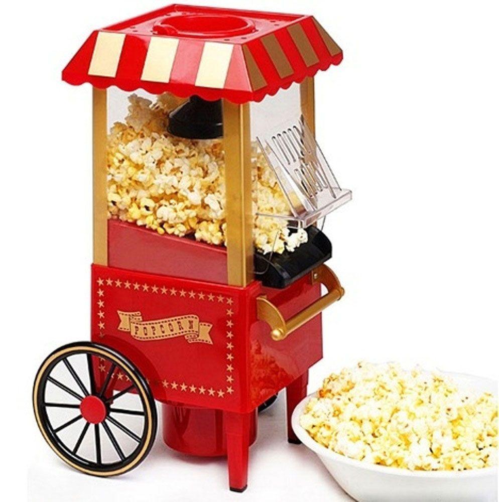 Домашний Аппарат для приготовления попкорна (попкорница) Ретро, машина для изготовления домаАппараты для приготовления попкорна<br> Руководство по эксплуатации, инструкция Попкорница Ретро (pdf 109 kb)<br><br> Любите похрустеть воздушной кукурузой во время просмотра очередной серии любимого сериала или кинематографической новинки, но вам не охота каждый раз бежать за ней в соседний магазин?<br><br><br> В нашем интернет магазине можно купить отличное и недорогое решение - домашний аппарат для приготовления попкорна «Ретро», который позволит с легкостью приготовить собственноручно популярное лакомство.<br><br><br> Процесс приготовления настолько прост, а цена товара  такая привлекательная, что домашний попкорн станет для вас и ваших гостей любимым блюдом на всех посиделках.<br><br>Особенности домашней попкорницы<br><br> <br><br><br> Попкорница позволит за считанные мгновения приготовить любимую воздушную кукурузу и превратить банальный просмотр фильма в веселое занятие.<br><br><br> Отзывы довольных покупателей говорят о том, что попкорн из нее получается невероятно вкусным, а времени на этот нужно совсем немного. Да и сама попкроница выглядит невероятно аутентично и украшает любую кухню своим оригинальным дизайном.<br><br><br> Аппарат изготовлен из прочного пищевого пластика с применением сертифицированных элементов декора.<br><br><br> Принцип приготовления попкорна состоит в том, что вам нужно всего лишь засыпать зернышки кукурузы в отверстие сверху и включить ее. Спустя всего пару минут вы услышите характерные хлопки, которые свидетельствуют о том, что воздушная ароматная кукуруза почти готова.<br><br><br> Поклонники здорового образа жизни и полезной пищи оценят тот факт, что для попкорна не требуется масло!<br><br>Преимущества<br><br>Стильный дизайн<br>Компактные размеры<br>Быстрое приготовление<br>Разнообразие рецептов с разными вкусами<br>Прочные и качественные материалы делают попкорницу долговечной<br>Прекрасный подарок<br>Простота использования: даже ребенок с