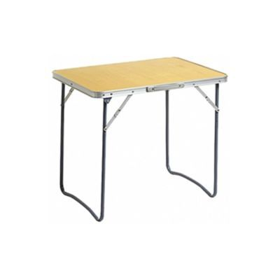 Стол Totem TTF-015Кемпинговая мебель<br>Складной стол Totem TTF-015 - отличный вариант для путешествия и на даче. Столешница стола изготовлена из фибролита. Устойчивость столика обеспечивается фиксируемой ломберной петлей на ножках стола. Ножки складываются вовнутрь столешницы, имеется удобная ручка для переноски стола. Наличие складного столика - прекрасное решение для организации пикника на открытом воздухе. Складной стол необходим в малогабаритном помещении. Очень удобен во всех отношениях - маленький размер, лёгок в переноске, можно быстро убрать для создания свободного пространства. Так же радует доступная цена!<br>Характеристики<br><br><br><br><br> Вес:<br><br><br> 2,7 кг.<br><br><br><br><br> Все размеры:<br><br><br> 70*50*60 см<br><br><br><br><br> Гарантия:<br><br><br> 6 месяцев.<br><br><br><br><br> Каркас:<br><br><br> Сталь диаметром 16мм, толщина стенок 0,7 мм<br><br><br><br><br> Материал:<br><br><br> ДВП 3мм<br><br><br><br><br> упаковка габариты см:<br><br><br> 70*50*6<br><br><br><br><br>