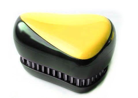 Расческа для волос Compact Styler, (Компакт Стайлер), желтый, для распутывания мокрых и кудрявых волос
