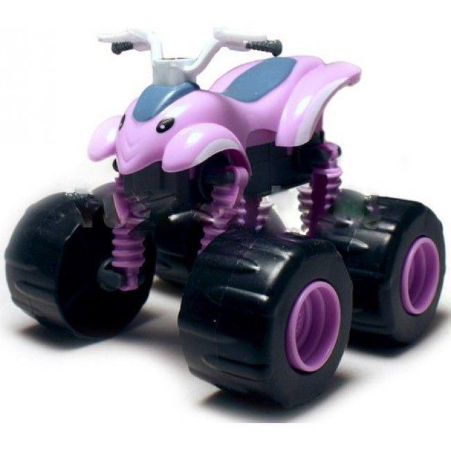 Чудо-машинка Вспыш Квадроцикл с гнущимися и вращающимися на 360 градусов колесами, игрушка для детей из мульфильмаМашинки Вспыш<br>Чудо-машинка Вспыш Квадроцикл с гнущимися и вращающимися на 360 градусов колесами<br> <br> <br>  <br> <br> <br>Машинка Квадроцикл изготовлена из прочных материалов, поэтому ей не страшны ни удары, ни падение, ни неаккуратное обращение детей. Игрушка сохранит свои качества и красоту при любых обстоятельствах. Поверхность машинки Вспыш поддается простому уходу. В конструкции игрушки отсутствуют съемные мелкие части, которые могут быть небезопасны для малышей.<br> <br> <br>  <br> <br> <br>Чудо-машинка Вспыш Квадроцикл, не смотря на свою прочность, имеет легкий вес и удобные для игры размеры. Катание по полу, запуск машинки в гоночном соревновании позволяет ребенку развить мелкую моторику и координацию движений. Игра с чудо-машинкой заставляет ребенка постоянно находиться в движении, что окажет положительное влияние на физическое развитие.<br> <br> <br>  <br> <br> <br>Характеристики:<br> <br>Размер: 140х90х110 мм (ДхШхВ)<br> <br> <br>  <br> <br> <br>Для оптовых покупателей:<br> <br>Чтобы купить машинку Вспыш Квадроцикл оптом, необходимо связаться с нашими операторами по телефонам, указанным на сайте. Вы сможете получить значительную скидку от розничной цены в зависимости от объема заказа.<br> <br>Для получения информации о покупке товаров посетите разделОптовых продаж<br>