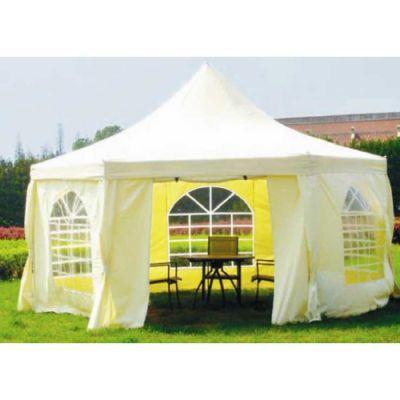 Садовый тент шатер Green Glade 1053 (6 граней)  (Комплект из 2-х коробок)Тенты Шатры<br><br> В этом шатре площадью 16 кв. м. комфортно разместится 18 человек.<br><br><br> Тент садовый из полиэстера Green Glade 1053 является многофункциональным и мобильным шатром, предназначенным для защиты от дождя, солнца, ветра и насекомых во время отдыха открытом воздухе, проведения выставок или организации летнего кафе. Небольшие габаритные размеры в сложенном состоянии, позволяют легко уместить тент Green Glade 1053 в багажнике любого автомобиля и взять его в путешествие или на пикник. Кроме того, данный шатёр может стать отличной летней беседкой на дачном участке или в саду.<br><br><br> Часто такие шатры используют как тент над бассейном, чтобы туда не попадал мусор, листва, а также чтобы защититься от солнца, а может даже и дождя. А шатры с москитными сетками еще и прекрасно защитят купальщиков от насекомых.<br> В этом шатре, диаметр вписанной окружности которого 4,33 м, вы сможете разместить круглый бассейн диаметром не более 4 м.<br><br>Характеристики:<br><br><br><br><br><br><br> упаковка габариты 2 место см:<br><br><br> 100*36*30<br><br><br><br><br> Вес:<br><br><br> 56 кг.<br><br><br><br><br> Все размеры:<br><br><br> Диаметр вписанной окружности 4,33 х 3,4(В) м. Стенка 2,5(Ш) м. Площадь - 16 кв. м.<br><br><br><br><br> Высота:<br><br><br> 3,4 м.<br><br><br><br><br> Каркас:<br><br><br> Металлическая трубка (32/32/34 мм). Металлические соединения.<br><br><br><br><br> Материал:<br><br><br> Полиэстр 240 г с водоотталкивающим покрытием.<br><br><br><br><br> Особенности:<br><br><br> Боковые стенки входят в комплект. Шестигранник. Стенки на кольцах.<br><br><br><br><br> упаковка вес кг:<br><br><br> 29<br><br><br><br><br> упаковка габариты см:<br><br><br> 245*20*15<br><br><br><br><br> Цветовое исполнение:<br><br><br> светло-желтый.<br><br><br><br><br>