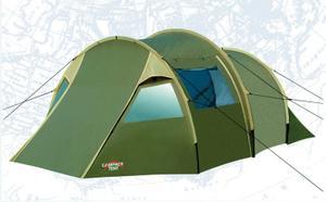Палатка Campack Tent Land Voyager 4Туристические палатки<br>Туристическая палатка с тремя входами и спальней на четверых, просторный тамбур. Противомоскитная сетка не позволит летающим насекомым проникнуть внутрь. Ткань внутренней палатки изготовлена из полиэфирных волокон, свободно пропускает воздух. Все швы проклеены. Противомоскитная сетка состоит из множества маленьких ячеек.<br>Характеристики:<br><br><br><br><br> Вес:<br><br><br> 11,7 кг.<br><br><br><br><br> Водонепроницаемость:<br><br><br> 3000 мм.<br><br><br><br><br> Все размеры:<br><br><br> Внешняя палатка 505(Д)x310(Ш)x195(В) см, внутренняя палатка 275(Д)x280(Ш)x187(В) см.<br><br><br><br><br> Высота:<br><br><br> 195 см.<br><br><br><br><br> Каркас:<br><br><br> фиберглас 11 мм.<br><br><br><br><br> Материал внутренний:<br><br><br> P.Taffeta 170T.<br><br><br><br><br> Материал пола:<br><br><br> армированный полиэтилен (tarpauling).<br><br><br><br><br> Материал внешний:<br><br><br> P.Taffeta 190T PU 3000 мм.<br><br><br><br><br> Обработка швов:<br><br><br> проклеенные швы.<br><br><br><br><br> упаковка габариты см:<br><br><br> 70*40*40<br><br><br><br><br>