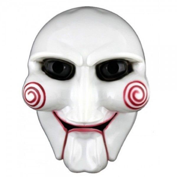 Маска ПилыКарнавальные маски<br>Маска Пилы<br> <br>Одна из самых страшных и популярных масок - это маска из фильма Пила. Кровожадный и безжалостный Джон Крамер - главный герой фильма ведет игру со смертью. Хотите всех напугать и обескуражить?  Действуйте! Переоденьтесь в страшного героя на ночную вечеринку страха, и все вокруг будут охвачены ужасом при виде вас. Поверьте, Маска Пила создаст устрашающий образ.<br><br>Без сомнений, маска Пила знакома многим по жуткому фильму-ужастику. Фильм «Пила» - это многосерийный триллер, который был занесен в Книгу рекордов Гиннеса, как самый кассовый хоррор-киносериал последнего столетия.<br><br>Главный герой фильма успешный архитектор - Джон Крамер, у которого есть любимая жена и работа, становится абсолютно безжалостным убийцей. На фоне личного горя - смерти долгожданного ребенка и смертельной болезни, Джон начал испытывать людей и доводить их до состояния нечеловеческих физических и моральных страданий. Перед его жертвами, на экране телевизора, всегда появлялась кукла в маске. Именно она рассказывала, где расположены зловещие ловушки и какой страшный выбор предстоит жертвам, чтобы преодолеть их.<br>