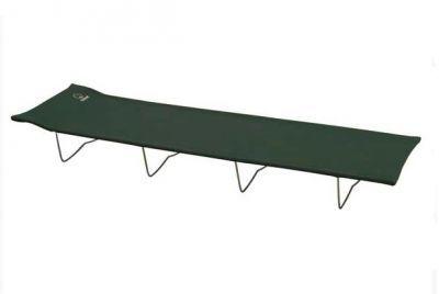 Кровать раскладушка туристическая Greenell BD-5 облегченная (71181-303-00)Кемпинговая мебель<br><br> Важным атрибутом, обеспечивающим комфортной отдых на кемпинге, охоте и продолжительной рыбалке, является туристическая кровать.  Она отлично заменит Вам «пенку» с надувным матрасом и сможет обеспечить полноценный сон. Такие раскладушки отличаются от домашнихкомпактными размерами и маленьким весом. Так, например, кровать-раскладушка туристическая Greenell BD-5 в сложенном виде помещается в небольшой чехол. Учитывая её вес в 3.4 кг, Вы сможете без труда брать её с собой в поход, ну а в багажнике машины такая складная кровать и вовсе займет минимум места.<br><br><br> Туристические кровати-раскладушки будут полезны не только при выездах на природу, пригодятся они и в квартире как дополнительное спальное место для гостей, и на даче как лежак для отдыха.<br><br>Характеристики<br><br><br><br><br> Max вес пользователя:<br><br><br> 100 кг.<br><br><br><br><br> Вес:<br><br><br> 3.39 кг<br><br><br><br><br> Все размеры:<br><br><br> 181*57*18 см.<br><br><br><br><br> Гарантия:<br><br><br> 6 месяцев.<br><br><br><br><br> Каркас:<br><br><br> Сталь ?19мм, ?7мм порошковое покрытие<br><br><br><br><br> Материал:<br><br><br> полиэстер 600D + ПВХ с набивкой из пеноматериалов<br><br><br><br><br> упаковка габариты см:<br><br><br> 70*16*4<br><br><br><br><br>