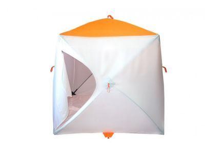 Палатка рыбака Пингвин Мr. Fisher 170Рыболовные палатки<br><br> Палатка рыбака Пингвин Мr. Fisher 170 обладает уникальным набором характеристик, позволяющим говорить о том, что и в эконом-классе есть возможность получить премиум-эффект.<br> 1. В первую очередь это специальная ткань для палаток Oxford Tent, высокая плотность плетения, пропитка PU 2000.<br> 2. Каркас из композитного материала и хаб из алюминиевого сплава.<br> 3. Дышащая вставка на боковой грани, данное расположение призвано исключить забивание снегом материала.<br> 4. Нашивки из широкой светоотражающей ленты обеспечат безопасность на льду.<br> 5. Два двухсторонних бегунка на молнии №10, большие и мощные слайдеры на специальной морозоустойчивой молнии.<br> 6. Вентиляционный рукав-клапан с утягивающей клипсой.<br> 7. Восемь оттяжек для крепления палатки – 4 на хабах и 4 на полу.<br> 8. Два вместительных кармана.<br> 9. Встроенный пол! Пол из оксфорда с складкой-клапаном посередине, позволяет удалять шугу из лунок, при просушке можно вывернуть наизнанку.<br> 10. Проверенное временем и тысячами рыболовов качество изготовления фабрики Пингвин.<br> <br> P.S. Так за счет чего же достигнута экономия :<br> 1. Убрана ветрозащитная юбка ( при наличии вшитого пола ее необходимость сомнительна, а вспомнив как она примерзает…..)<br> 2. Отсутствует чехол для палатки ( палатка упакована в полипропиленовый рукав, вы сами можете выбрать: поездить без чехла или купить чехол отдельно.<br> 3. Ликвидированы окна ( вентиляция осуществляется снизу приоткрыв бегунок или через складку-клапан в полу, вверху – через рукав-клапан)<br> 4. Исключены предметы роскоши: рым-гайка в потолке, потолочная карман-сетка, многочисленные карманы.<br> 5. Композитный пруток используемый для каркаса ниже по стоимости прутка из сплава В95Т1, который идет на «старшей» серии.<br><br><br>Инструкция по установке<br><br> 1.Вынуть укрытие из чехла (если имеется).<br> 2.При сильном ветре, в первую очередь, необходимо закрепить одну секцию на растяжку.<b