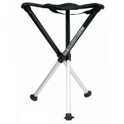 Стул складной Walkstool Comfort 55XL телескопические ножки, до 225 кг.Кемпинговая мебель<br><br> Складной стул Walkstool 55XL — это уникальный по сочетанию удобства и надежности предмет. Стулья Walkstool изготавливаются по запатентованной шведской технологии. Эта технология позволяет получить такое место для сидения, которое можно всюду взять с собою и при этом, оно совершенно не будет уступать по уровню комфорта вашим любимым домашним стульям.<br><br>ОПИСАНИЕ CКЛАДНОГО СТУЛА WALKSTOOL 55ХL:<br><br> Walkstool 55XL представляет собою раскладную конструкцию с телескопическими ножками и прочным сиденьем из ткани. В сложенном виде такой стул чрезвычайно компактный и его удобно взять с собою на отдых за городом: рыбалку, пикник, охоту или любой другой. Там, где вы решите остановиться, стул буквально в одно движение превратится из небольшого свертка в сумке для переноски в полноценное место для сидения. Эта модель существенно более удобная и надежная, чем раскладные стулья сомнительного происхождения, которые предлагаются на рынках. Несущая конструкция стула, его ноги, изготовлены из прочного алюминия, способного выдерживать серьезные нагрузки при частом использовании. Чтобы стул прослужил своему владельцу действительно долго и сохранил привлекательный внешний вид, металл ножек дополнительно покрыт слоем анодирования, что защищает его от царапин и коррозии под воздействием влаги. Высота ножек изменяется за счет телескопической раздвижной системы. В разложенном состоянии ножки фиксируются при помощи специального механизма. Высота стула в таком виде составляет 55 см, что приблизительно равно обыкновенной высоте кухонных стульев. Чтобы вновь сложить стул, не забудьте прижать кнопку фиксатора перед уменьшением длины ножек.<br><br><br> Нижняя часть ножек представляет собою устойчивую прорезиненную платформу небольшого диаметра. Это позволяет добиться максимальной устойчивости на неровной поверхности, скользкой после дождя траве и в иных сложных условиях. Все три ножки пересека