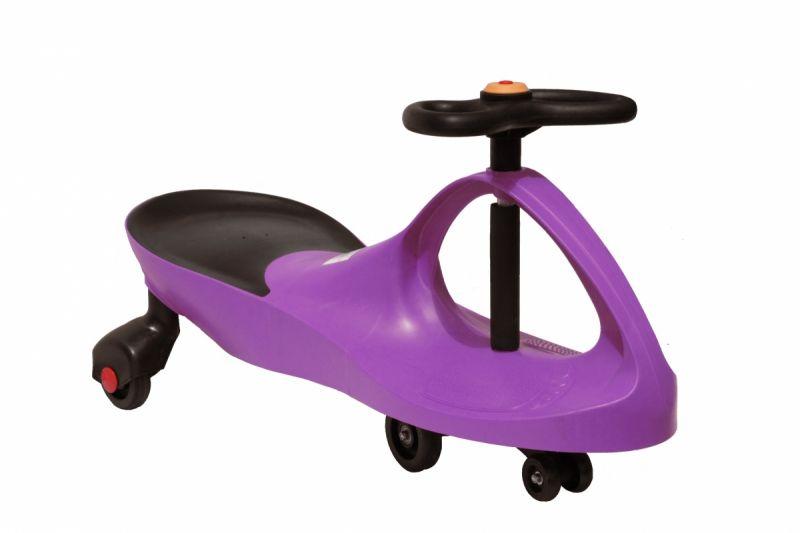 Детская машинка Bibicar (Бибикар) фиолетовый, каталка для детейМашинки Бибикар<br><br><br>Bibicar – первый самоходный транспорт для вашего малыша. Этот товар совсем недавно появился в разных интернет-магазинах, но уже полюбился огромному количеству малышей и их родителям. Для машинки не нужны батарейки и аккумуляторы, достаточно лишь поворачивать руль из стороны в сторону, и Бибикар поедет самостоятельно, под воздействием гравитации и центробежной силы. Также, совсем крохотный водитель может просто отталкиваться ногами. Самый подходящий возраст – 3 года, но и папа с мамой могут без опаски покататься на машинке – ведь она выдерживает нагрузку до 100 кг.<br><br>Секрет увлекательных игр с Бибикар<br><br> Малыши просто в восторге от Бибикар! И это – не преувеличение! Машинка – яркая, маневренная и удобная. И едет сама! А чтобы она поехала – не нужно ничего докупать или заряжать – просто крутите руль. Отличный детский аналог дорогостоящим электромобилям.<br><br><br> <br><br><br> Упасть с такой машинки тоже не удастся – дополнительная пара передних колес и особенности корпуса не позволят машинке перевернуться с маленьким водителем за рулем. Сиденье анатомической формы и прорезиненные вставки для ног обеспечивают комфорт и дополнительную безопасность ребенку. Кататься можно и дома – по линолеуму или паркету, и на улице – по бетону или асфальту. Вес машинки – около 4 кг.<br><br><br>Езда на самоходном аппарате развивает координацию движений, ориентацию в пространстве, выносливость и вестибулярный аппарат. Кроме того, это так важно для детей – управлять игровым процессом или своей игрушкой самостоятельно.<br><br>Преимущества перед аналогами<br><br> <br><br><br>Простота сборки – чтобы собрать машинку, вам понадобиться всего 10 минут времени, а ключ – уже входит в комплект;<br>Долговечность – качественные материалы и особенности устройства гарантируют долгую службу машинки;<br>Внешняя привлекательность – яркие цвета и оригинальный дизайн выгодно отличают Бибикар перед другими м