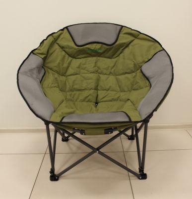 Кресло Green Glade 2307Кемпинговая мебель<br><br> Кресло складное круглое (тип Луна) станет незаменимым предметом на отдыхе для тех, кто ценит комфорт. <br><br><br> Мягкое широкое сиденье и мягкая спинка позволяет удобно расположиться человеку любой комплекции (см. фото).<br><br><br> Имеет регулировку сиденья размера (на двух стропах). <br><br><br> Складывается оно в удобный чехол для транспортировки.<br><br>Характеристики<br><br><br><br><br> Max вес пользователя:<br><br><br> до 150 кг.<br><br><br><br><br> Вес:<br><br><br> 7,5 кг.<br><br><br><br><br> Все размеры:<br><br><br> Ширина спинки 54 см х ширина сиденья 52 см х высота 49/98 см.<br><br><br><br><br> Высота:<br><br><br> 49/98 см.<br><br><br><br><br> Гарантия:<br><br><br> 6 месяцев.<br><br><br><br><br> Каркас:<br><br><br> Стальная труба с полимерным покрытием D 19 мм.<br><br><br><br><br> Комплект поставки:<br><br><br> В комплекте чехол, полиэстер 210D.<br><br><br><br><br> Материал:<br><br><br> полиэстер 240D<br><br><br><br><br>