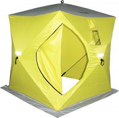 Палатка для зимней рыбалки куб Сахалин 4Рыболовные палатки<br><br> Палатка для зимней рыбалки куб Сахалин 4  имеет складную полуавтоматическую конструкцию, благодаря чему сборка и разборка изделия осуществляется быстро. <br><br><br> Высокий потолок и вертикальные стены палатки-куба Сахалин 4 позволяют удобно разместить в ней вещи и комфортно передвигаться в полный рост. <br><br><br> Плотный тент палатки защитит от ветра и влаги, при этом он пропускает ультрафиолет, благодаря чему в солнечный день пространство внутри палатки прогреется. <br> Особенности<br> - 2 прозрачных окна обеспечивают хорошую освещенность внутри палатки; в зависимости от условий окна можно снять или полностью закрыть;<br> - 2 вентялиционных окна с ветровым клапаном предназначены для использования газовых обогревательных приборов;<br> - 4 усиленных люверса, 8 ввертышей и прочные оттяжки в комплекте позволят надежно закрепить палатку;<br> - Юбка 20 см по периметру внизу палатки создаст дополнительную защиту от ветра;<br> - Защитные светоотражающие элементы по 4 сторонам палатки защитят от наезда снегохода в темное время суток;<br><br>Характеристики<br><br><br><br><br> Вес:<br><br><br> 7,5 кг.<br><br><br><br><br> Водонепроницаемость:<br><br><br> 2000 мм.<br><br><br><br><br> Все размеры:<br><br><br> 180*180 см.<br><br><br><br><br> Высота:<br><br><br> 200 см, по стенке 170 см.<br><br><br><br><br> Гарантия:<br><br><br> 6 месяцев.<br><br><br><br><br> Каркас:<br><br><br> фибергласс 9,5 мм<br><br><br><br><br> Материал:<br><br><br> Oxford 3000 (2000 PU), Полиуретановое покрытие<br><br><br><br><br> Особенности:<br><br><br> высокая палатка-куб, продуманная вентиляция<br><br><br><br><br> Площадь:<br><br><br> 3,24 кв.м.<br><br><br><br><br> упаковка габариты см:<br><br><br> 133*20*20<br><br><br><br><br>