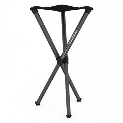 Стул складной Walkstool Basic B60  телескопические ножки, до 175 кгКемпинговая мебель<br><br> Стул складной Walkstool Basic B60 ориентирована на рыбаков, любителей пикников и кемпингового отдыха. <br><br><br> Но раскладной стул будет не менее полезен и во многих видах профессиональной деятельности. <br><br><br> Например, он позволит снизить нагрузку на спину во время проведения ремонтных работ. Производители рекомендуют их и фотографам, видеооператорам, представителям других мобильных профессий.<br><br><br> От других подобных стульев, представленных на рынке, Walkstool отличаются наличием телескопических (выдвижных) ножек. Это позволяет получить одновременно компактный для хранения и удобный в использовании аксессуар. Walkstool B60 также существенно выигрывает в споре с конкурентами за счет своего качества. <br><br><br> Ножки стула сделаны из металла — алюминиевого сплава. На их концах установлены прорезиненные накладки, которые обеспечивают устойчивость на любой, в том числе и мокрой, поверхности. Само сиденье, размер которого 32,5 см, пошито из полиэстерового материала, который способен выдержать существенные механические нагрузки, а также отличается большой долговечностью в эксплуатации.<br><br><br> Ножки стула Walkstool B60 выдвигаются таким же образом, как, например, секции штатива для фото или видеокамеры. <br><br><br> Они надежно фиксируются в выдвинутом положении, чтобы обеспечить пользователю абсолютную безопасность. <br><br><br> В рабочем положении складной стул Walkstool B60 выдерживает нагрузку 175 кг. <br><br><br> Высота стула — 60 см, что позволяет сидеть на нем с таким же комфортом, как и на обычном кухонном стуле.<br><br><br> Всего несколько движений потребуется, чтобы собрать складной стул Walkstool B60 в сумку-чехол и отправиться с ним дальше.<br><br><br> Для этого нужно нажать на кнопки-фиксаторы на ножках и задвинуть одну их часть внутрь другой, а после — сложить все три ножки вместе. <br><br><br> В сложенном виде длина данной модели стула состав