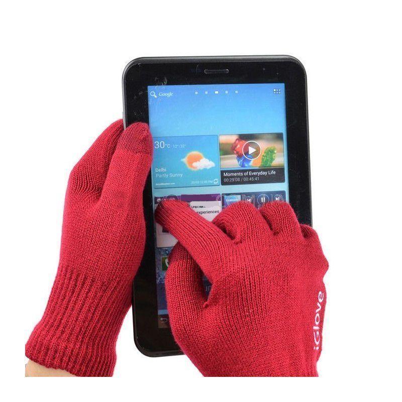 Перчатки для сенсорных экранов iGlove, красные, для телефонов, мужские и женскиеПерчатки для сенсорных экранов<br>Перчатки для сенсорных экранов iGlove, красные<br><br>Перчатки для сенсорных устройств в подарочной коробке<br> <br>Сенсорные гаджеты очень плотно вошли в нашу реальную жизнь: они постоянно с нами рядом. В зимний период актуальна проблема использования сенсорных устройств с экраном емкостного типа. Необходимое ручное управление сенсором затруднено присутствием, согревающих нас зимой, перчаток.<br> <br>Инновационные перчатки для сенсора iGloves с легкостью решают эту проблему, благодаря вплетению посеребренных нитей на кончиках среднего, указательного и большого пальцев, которые являются отличным проводником биотоков вашей руки. Запатентованная технология допускает легкое управление сенсорными устройствами.<br><br>Несколько выгодных преимуществ от использования сенсорных перчаток iGloves по сравнению с обычными перчатками:<br> <br>• Модный современный дизайн.<br> <br>• Комфорт в использовании. Ваши руки сохранят тепло даже в мороз, при этом Вы беспрерывно пользуетесь своим смартфоном и планшетом.<br> <br>• Универсальный размер перчаток. Благодаря акриловой нити и содержанию спандекса в составе, сенсорные перчатки iGloves подойдут женским или мужским рукам любого размера, что делает их отменным практичным и неординарным подарком в преддверии веселых новогодних праздников.<br>