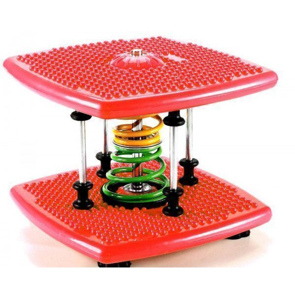 Степпер твист Twister Dance Machine тонкая талия красный, для талии и бедер, для спорта дома поворотный DIROX