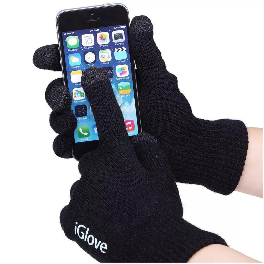 Перчатки для сенсорных экранов iGlove, черные, для телефонов, мужские и женскиеПерчатки для сенсорных экранов<br>Перчатки для сенсорных экранов iGlove, черныеПерчатки для сенсорных устройств в подарочной коробке Сенсорные гаджеты очень плотно вошли в нашу реальную жизнь: они постоянно с нами рядом. В зимний период актуальна проблема использования сенсорных устройств с экраном емкостного типа. Необходимое ручное управление сенсором затруднено присутствием, согревающих нас зимой, перчаток. Инновационные перчатки для сенсора iGloves с легкостью решают эту проблему, благодаря вплетению посеребренных нитей на кончиках среднего, указательного и большого пальцев, которые являются отличным проводником биотоков вашей руки. Запатентованная технология допускает легкое управление сенсорными устройствами.Несколько выгодных преимуществ от использования сенсорных перчаток iGloves по сравнению с обычными перчатками:   Модный современный дизайн.   Комфорт в использовании. Ваши руки сохранят тепло даже в мороз, при этом Вы беспрерывно пользуетесь своим смартфоном и планшетом.   Универсальный размер перчаток. Благодаря акриловой нити и содержанию спандекса в составе, сенсорные перчатки iGloves подойдут женским или мужским рукам любого размера, что делает их отменным практичным и неординарным подарком в преддверии веселых новогодних праздников.<br>