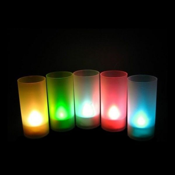 Светодиодная свеча LED Candle синяя, на батарейках для романтического вечера в стаканеСветодиодные свечи<br>Светодиодная свеча LED Candle в стакане синяя<br> <br>  Смотрите также - Набор светодиодных свечей с подзарядкой RC-6G 6 шт.<br> <br>Прогресс затрагивает все больше областей нашей жизни. Предметы, не менявшиеся в течение веков и так привычные каждому человеку, вытесняются новыми, более подходящими вещами. Так и светодиодные свечи пришли на смену восковым. Свет в таких свечах создается не огнем, а маленькими светодиодами.<br> <br>Давайте разберемся какие особенности имеют светодиодные свечи перед классическими :<br> <br>Особенности светодиодных свечей<br> <br>Светодиоды не производят пламени, свечку можно поставить в любом удобном месте, не боясь поджечь салфетки или штору. Процессов горения не происходит, а следовательно на потолке не останется желтых следов, а комната не заполнится отравляющим углекислым газом.<br> <br>Электронная светодиодная свеча не сможет запачкать скатерть, одежду или мебель расплавленным воском, об этой проблеме можно забыть!<br> <br>Преимущества светодиодных свечей LED Candle<br> <br>Светодиодная свеча прослужит Вам гораздо дольше восковой. Светодиоды потребляют очень мало энергии, батареек хватит надолго.  <br><br> <br> <br>Свечи LED в стаканах - идеальное решения для  романтического ужина, нового года и любого праздника. Легко украсить абсолютно любое помещение и при этом светодиодные свечи безопаснее восковых. Их можно не бояться использовать даже в ванной и других маленьких помещениях.<br> <br>Свеча идет  в комплекте со стаканом из матового пластика. Свет от такого пластика рассеивается, совершенно не возможно отличить какая именно свеча находится внутри, если только предположить, что огонь тоже может быть цветным и волшебным!<br> <br>Характеристики:<br> <br><br> <br>Питание от 3-х батареек AG13 ( в комплекте)<br> <br>Вес - 40 грамм<br> <br>Размер упаковки: 4,5-9-4,5 см<br> <br>Размер стакана: диаметр - 4 см, высота - 9 см<br> <br>